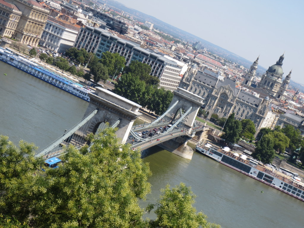 Budapest Overlooking Chain Bridge