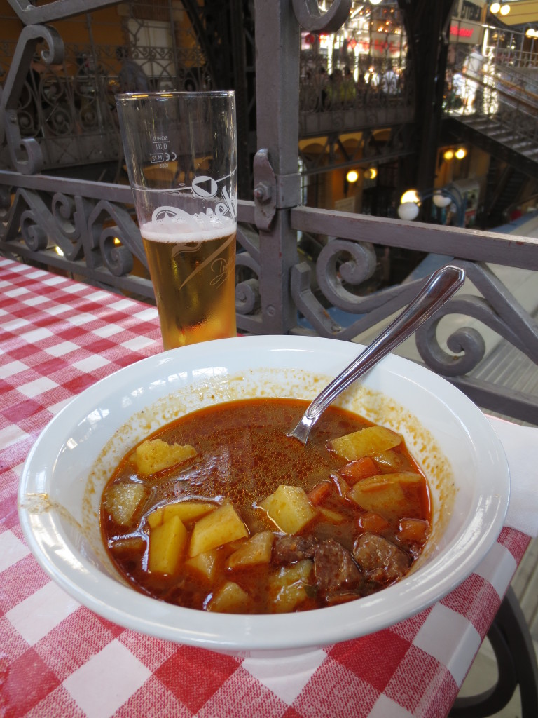 Beef Goulash & Hungarian Beer