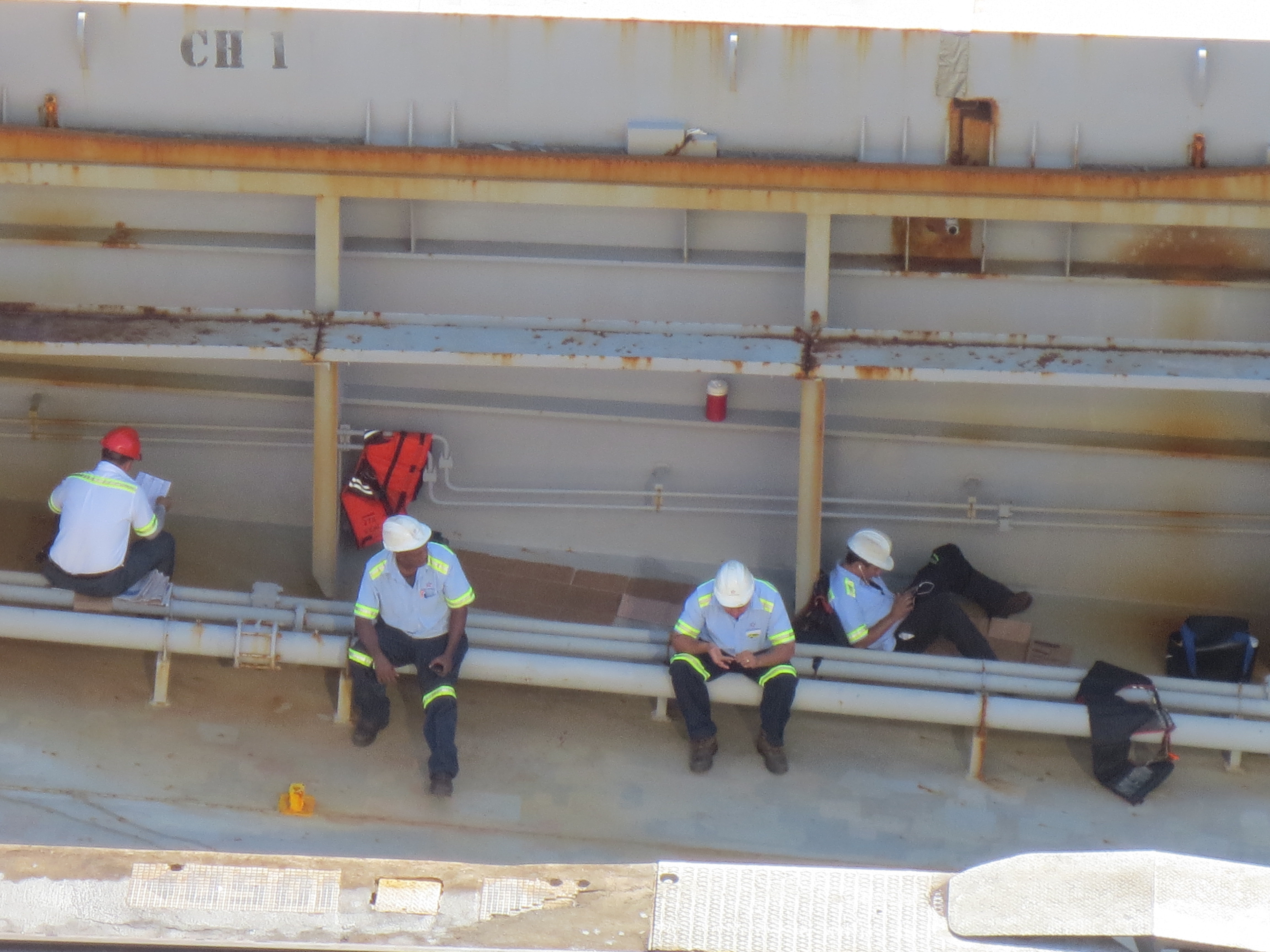 Panama Canal Authority aboard transiting vessel