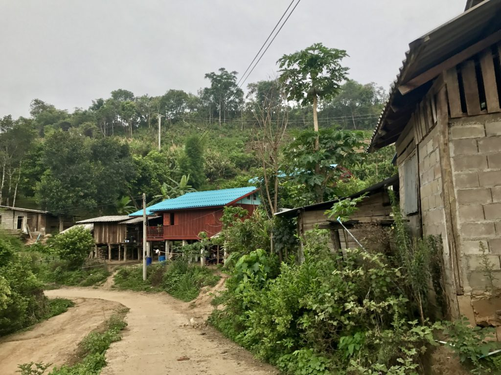 Main Road Through Karen Hill Tribe Village